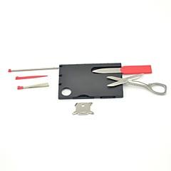 2-in-1 çok fonksiyonlu mini katlanır kredi kartı boyutunda cep kamp aracı