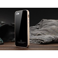Luphie Tempered Glass Back Cover with Metal Bumper for iPhone 5/5S (Assorted Colors)