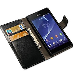 Retro Crazy Horse PU Leather Full Body Case with Stand and Card Slot for SONY Xperia M2 S50h  (Assorted Colors)