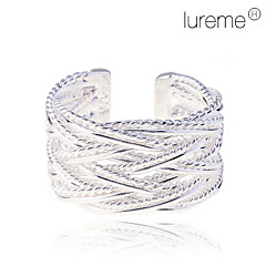 Women's Lureme 925 Weave-shaped Sterling Silver Plated  Ring