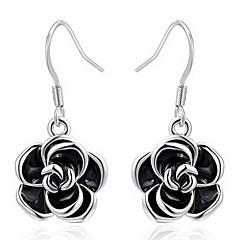 Classic Black Rose Shape Drop Earrings Roxi®(1 pair)