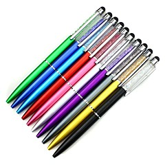 Touch Stylus Pen with Crystal Decoration Ballpoint Pen for iPhone iPad Samsung Tablet