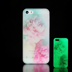 Flowers Pattern Glow in the Dark Hard Case for iPhone 5/5S