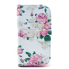 Rose Flower Pattern PU Leahter Full Body Cover with Stand and Card Slot for Samsung Galaxy Trend Plus S7580/S7562