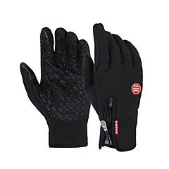 Men's Cycling Gloves/Winter Gloves Warm Fleece Full Finger Bike Bicycle GEL Touch Mittens Winter Waterproof