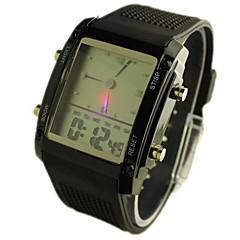 jam tangan sukan skrin putih lelaki membawa paparan analog-digital pelbagai fungsi