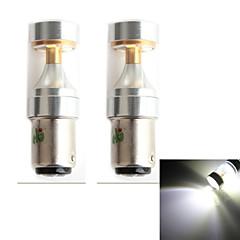 hj 1157 30w 2600lm 6000-6500k 6x2835 SMD LEDs de luz branca lâmpada de luz do carro de nevoeiro (12-24V, 2 peça)