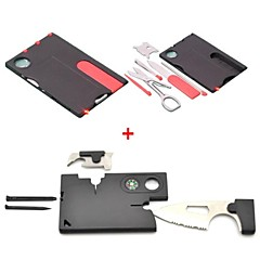 2-in-1 Mini Folding Credit Card Style Safety Outdoor Tool