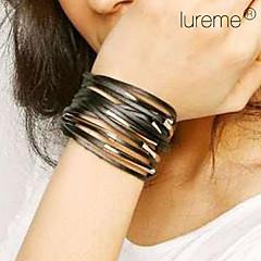 leather Charm Bracelets Lureme Multi-layers Leather Bracelet Jewelry