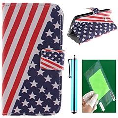 american flag suunnittelu pu nahka koko kehon tapauksessa näyttö suojelija, kynä ja seistä lg L80