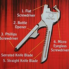 야외 도구 접이식 새로운 6에서 1 utili 키 미니 멀티 블레이드 열쇠 고리 포켓