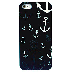Night Anchors Pattern Hard Case for iPhone 5/5S