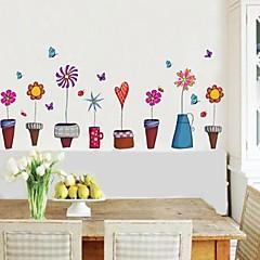 falimatrica fali matricák virágcserép stílusú dekorációs matrica