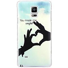 Mert Samsung Galaxy Note Minta Case Hátlap Case Szív PC Samsung Note 4