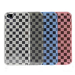 Check Design Pattern Soft Back Cases for iPhone 5/5S (Assorted Color)