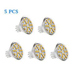 3W GU4(MR11) LED Filament Bulbs 24 SMD 2835 231 lm Warm White / Cool White AC 12 V 5 pcs