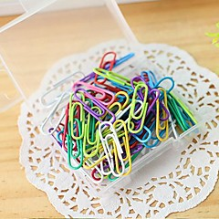 Box of Colorful Paper Clips(100 PCS)