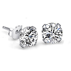 Earring Imitation Diamond Stud Earrings Jewelry Women Wedding / Party Sterling Silver / Rhinestone 2pcs Silver