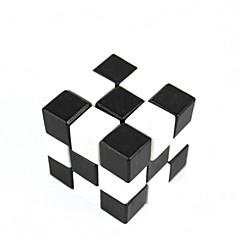 검은 색과 흰색 사각형 목재 교육의 잠금을 해제 장난감