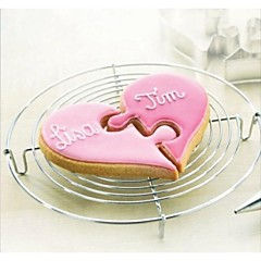 Валентина любовь сердца к сердцу головоломки резак форма печенья, нержавеющая сталь