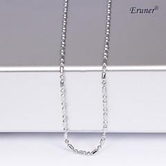 eruner®unisex 1mm silver kedja halsband no.13