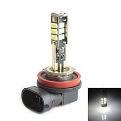 HJ H11 5W 450LM 5500-6000K 15x2835 SMD LED White Light Bulb for Car Brake Light  (12-24V,1 Piece)