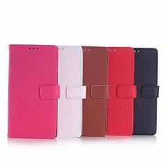 Del cuero del patrón de Lichee de alta calidad billetera de 5 pulgadas para Nokia Lumia 735 (colores surtidos)