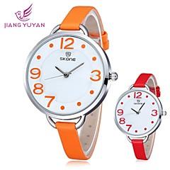 skone® kobiet okrągłe wybrać zegarek kwarcowy ze skóry PU (różne kolory)