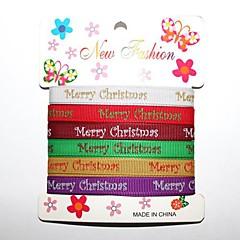 3/8 inch vrolijke kerst schetsen van Kerstmis met het afdrukken van het Lint 1 meter per rol (zes kleuren één kaart)