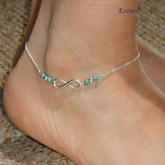 Eruner®Celeb Sexy Infinity Bead Anklet Foot Chain Bracelet Beach Jewelry Boho Fashion