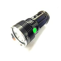 LED Lommelygter LED 3 Tilstand 8000LM Lumens 18650 Cree XM-L U2 Batteri -Camping/Vandring/Grotte Udforskning / Dagligdags Brug / Cykling