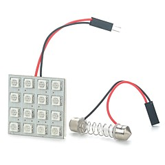 3W 16-SMD 5050 LED 192LM 620-625nm Red Light Emitter for Car