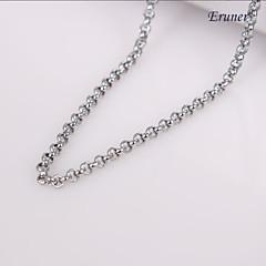 eruner®unisex 2mm silver kedja halsband No.43