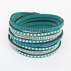 Bracelet/Leather Bracelet/Wrap Bracelet,Rhinestone Bohemian Bangles 10 Colors Friendship Bracelet Jewelry 1 pcs
