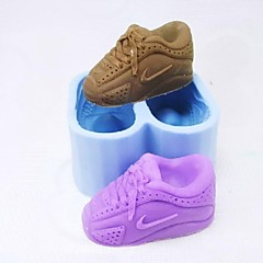 A Pair of Shoes Shaped Fondant Cake Chocolate Mold