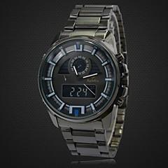 Men's Watch Full Steel Waterproof Multifunctional Analog Digital Wrist Watch LCD Sports Military Watch (Assorted Colors)