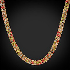 Golden Choker Necklaces / Chain Necklaces Wedding / Party / Daily / Casual / Sports Jewelry