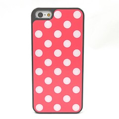 Beautiful Wave Point  Plastic Back Case for iPhone 5/5S(Assorted Color)