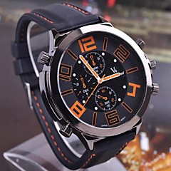 Men's Fashion Casual Quartz Round Case Sports Military Business Watches