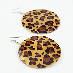 Toonykelly Fashionable Sexy Leopard Natural Shell Cowry Drop Earring(1Pair)