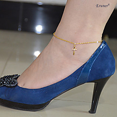 Eruner®Fashion Jewelry Cross Gold Plated Leg Bracelet Foot Chain Jewelry Women Anklet