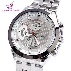reloj de pulsera de diamantes de imitación de aleación de esfera redonda de cuarzo de los hombres (colores surtidos)