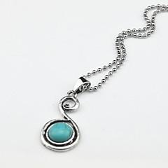 mirada toonykelly vendimia plata antigua plateó el collar piedra turquesa (1 unidad)
