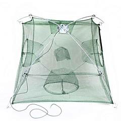 Folding Portable Shrimp Cage - Green + Silver