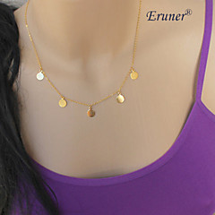 Eruner®Fashion (Sequins) Alloy Tiny Pendant Necklace,Tiny Necklace (Golden/Silver)