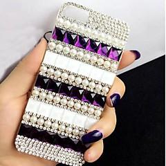 senhora a pérola clássico com moldura de diamante para iphone 5 / 5s