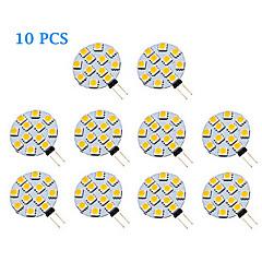 1.5W G4 LED Spot Işıkları 12 SMD 5050 70 lm Sıcak Beyaz / Serin Beyaz AC 12 V 10 parça