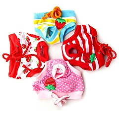 Female Puppy Sanitary Cute Pant Short Panty Striped Diaper Underwear for Pet Dog