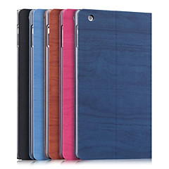 Wood PU leather Full Body Case with Auto Sleep and Stand for iPad2, iPad3, iPad4 (Assorted Colors)