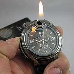Men's Watch Cool 2-in-1 Quartz Watch + Butane Flame Lighter (Assorted Colors) Cool Watch Unique Watch